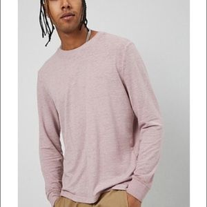 🌟NWT🌟Forever 21 MEN'S Long Sleeve Mauve Tee